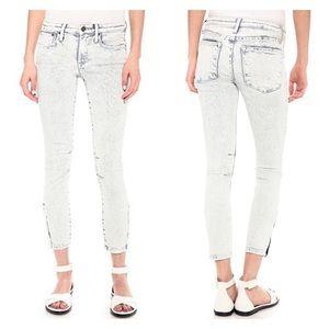 HELMUT LANG Acid Wash Ankle Jeans Zip 29
